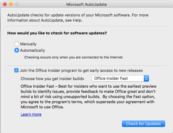 Microsoft Outlook Update 2019